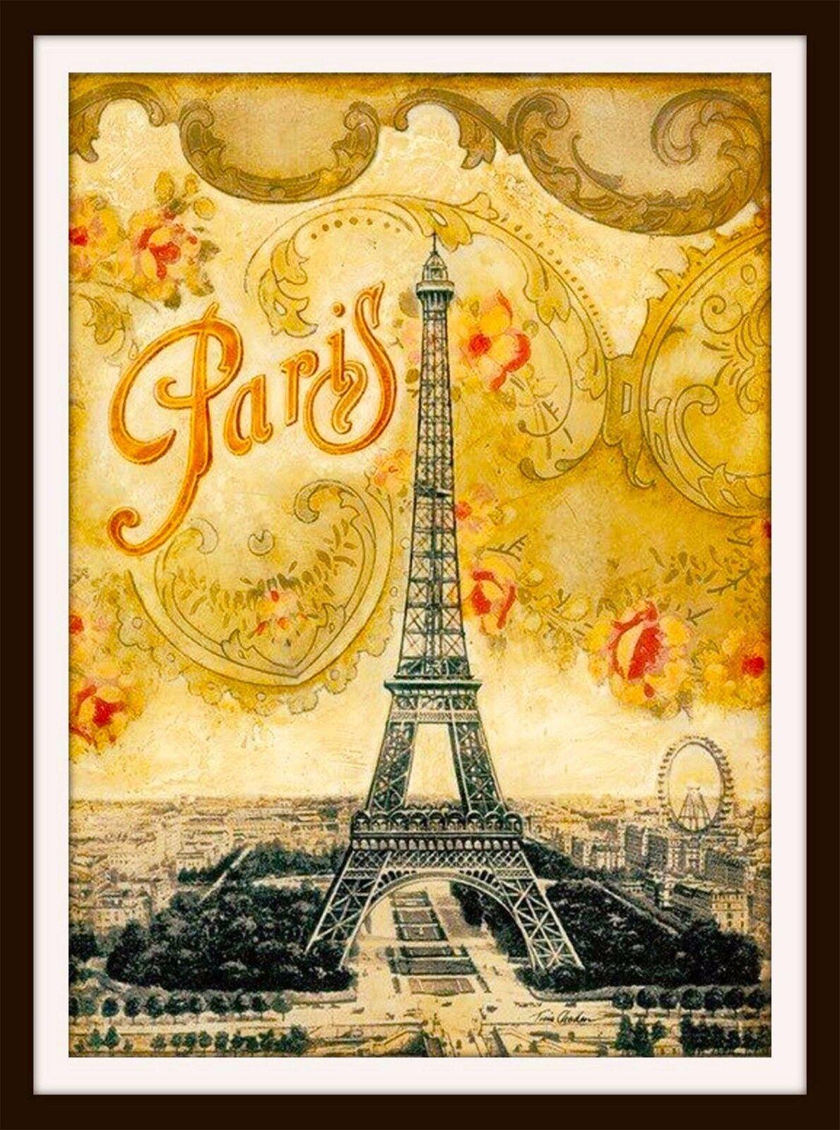 Рисованные французские открытки, днем