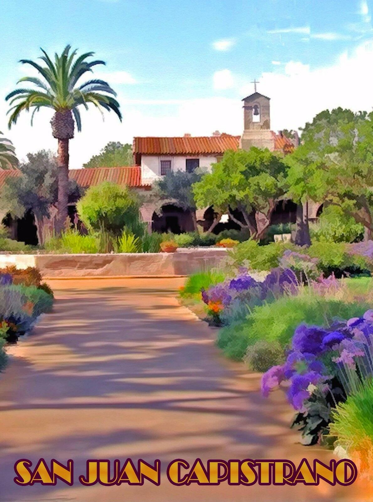 San Juan Capistrano (CA) United States  City pictures : San Juan Capistrano California United States Travel Advertisement Art ...