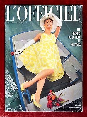 L'Officiel Paris Magazine ~ #481/482 April1 962 ~ Vassal Pottier Brigitte Bardot