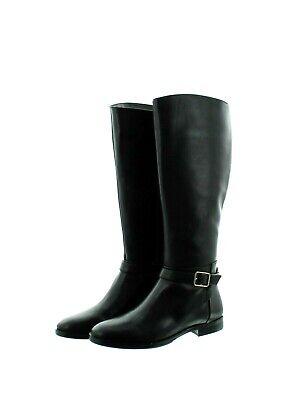 Ann Taylor Joni Boots Women's Riding Leather Extend Wide Calf, 379987 Black $268