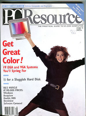 Pc Resource Magazine September 1988 Get Great Color  Ex 082416Jhe