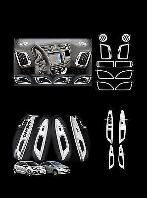 Autoclover Chrome Interior Molding Kit Trim Cover for Kia 12+ Rio Rio 5 Car