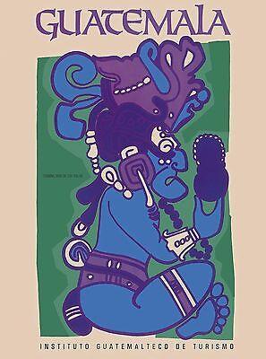 Guatemala Central Latin America American Vintage Travel Advertisement Poster 2