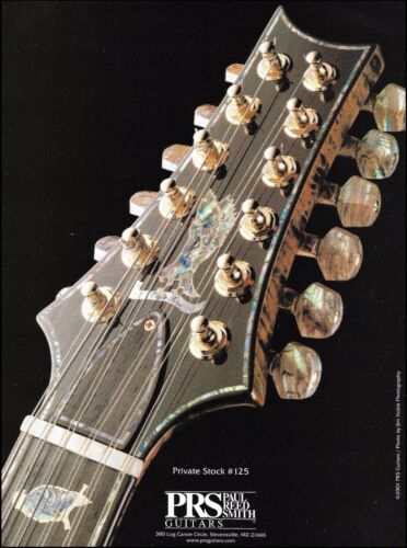 PRS Private Stock 125 12-string guitar 2001 ad 8 x 11 advertisement print