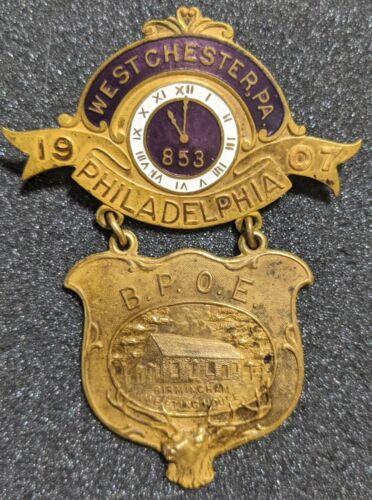 Vintage 1907 Benevolent Protective Order Elks Philadelphia Birmingham Medal BPoE