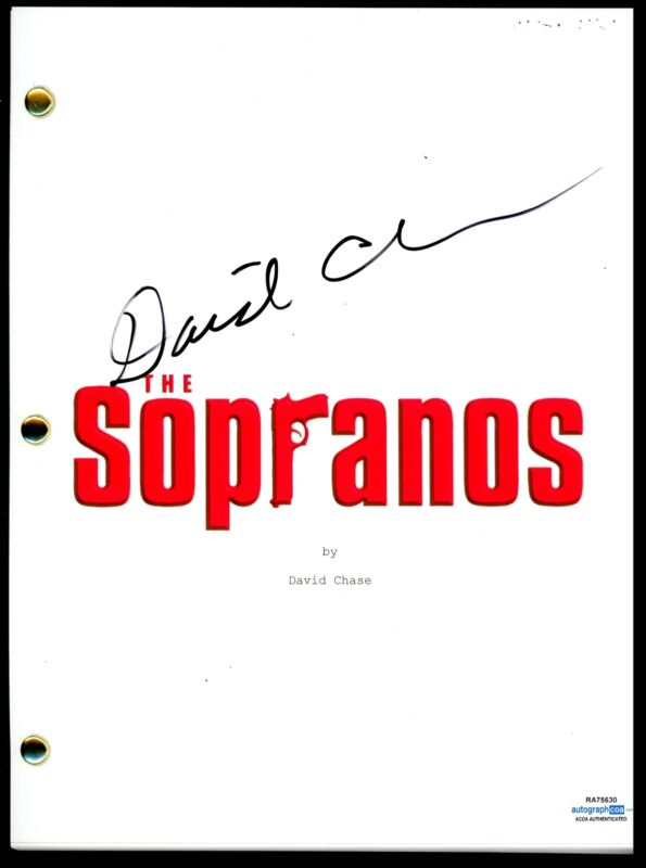 "David Chase ""The Sopranos"" AUTOGRAPH Signed Full Pilot Episode Script ACOA"