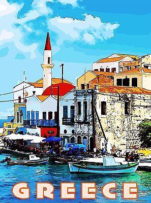 Greece Greek Isles Islands Isle Europe European  Travel Advertisement Poster