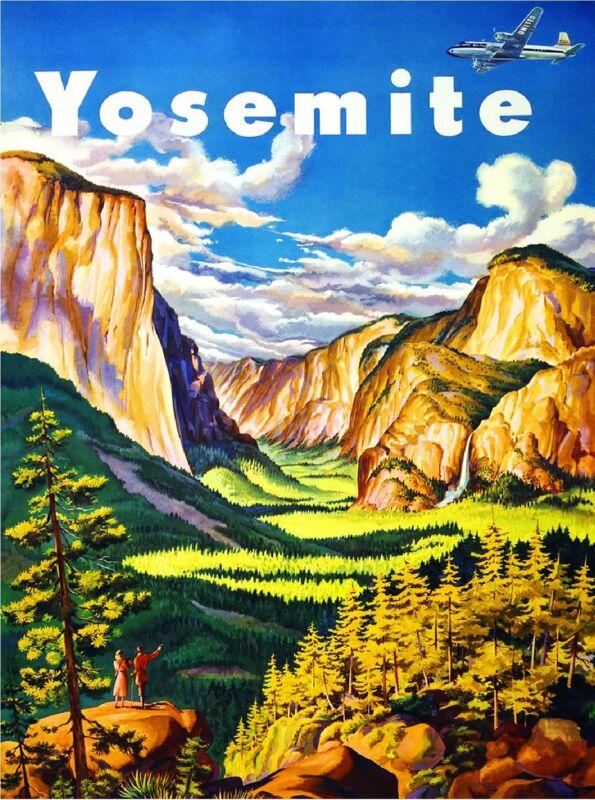 Yosemite Half Dome California United States Travel Advertisement Art Poster