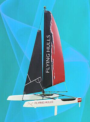 FlyingHulls A40 RC Sailing Catamaran Carbon Fiber