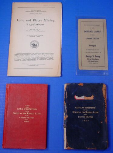 1895 & 1909 Manual of Mineral Survey Instructions - Govt. Printing Office
