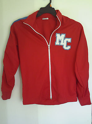 Vtg Betlin Men boy Red Blue striped jacket  Sz S