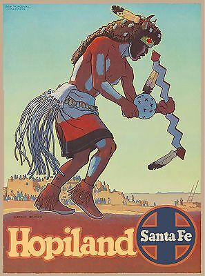 Hopiland Santa Fe New Mexico United States America Travel Advertisement Poster