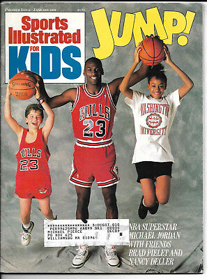 SI Kids 1/89 LARRY BIRD/STEFFI GRAF Rookie-Michael Jordan Cover PREMIER Magazine