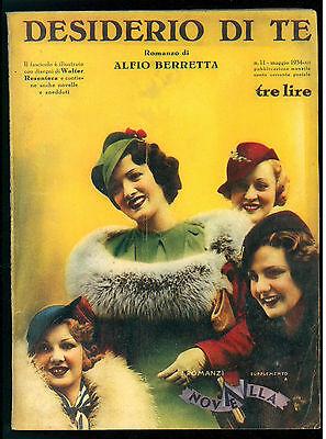 BERRETTA ALFIO DESIDERIO DI TE RIZZOLI 1934 I ROMANZI DI NOVELLA 11