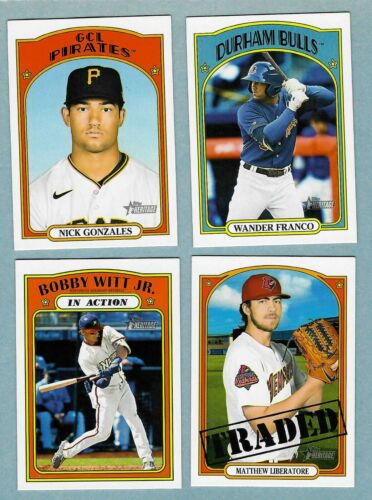 2021 Topps Heritage Minor League Base & SPs 1-220 - Complete Your Set ~ You Pick