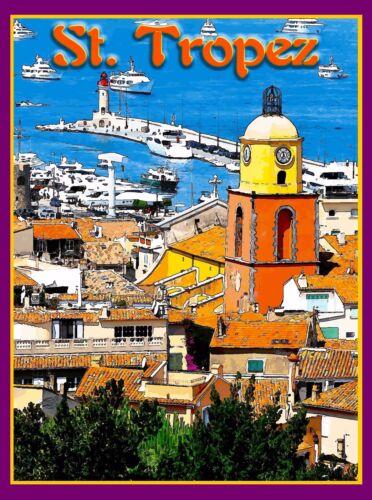 St. Saint Tropez France French Riviera Europe Travel Advertisement Poster Print