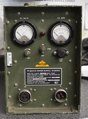 Military Ruggedized Portable Power Supply 24 28 18-30 Volt Dc 60a Radio Sincgars