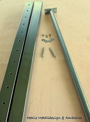 Edelstahl Turnstange Reckstange Turnstangen 150 cm mit VA Pfosten Länge:295 cm