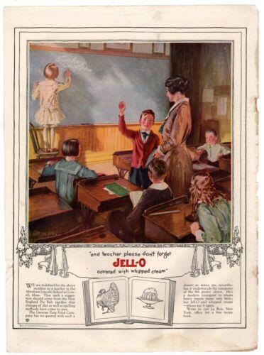 1922 ORIGINAL VINTAGE JELL-O GELATIN  MAGAZINE AD (M2)