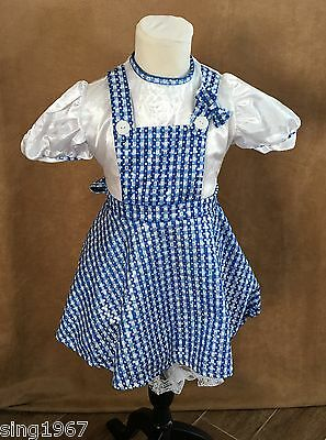 S Girls Dorothy Wizard of Oz Costume Rubie's Deluxe small dress childs sparkle](Deluxe Dorothy Costume)