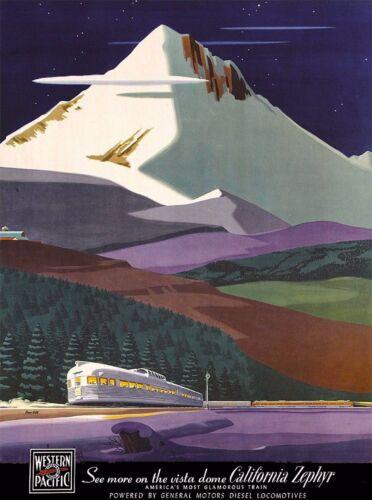 California Zephyr Railroad United States  Travel Poster Advertisement Art Print