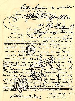 Vintage Letter Background Wood Mounted Rubber Stamp STAMPENDOUS Stamp R221 New Background Mounted Rubber Stamp