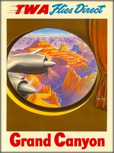 1950s Grand Canyon National Park TWA Travel Ad Art Print Poster