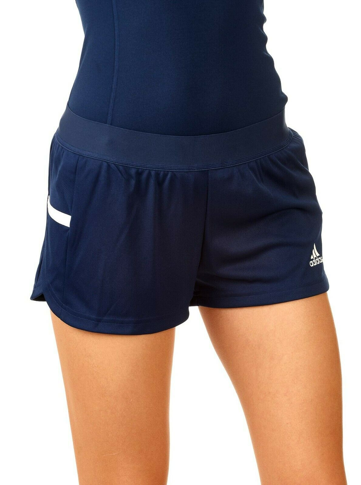 Details about Adidas T19 Team Wear Women's Running Shorts Black Navy Gym Shorts Climacool