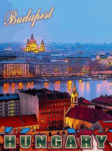 Hungary Hungarian Budapest European Europe Vintage Travel Advertisement Poster 5