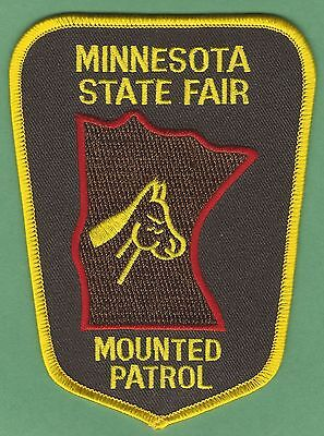 MINNESOTA STATE FAIR POLICE MOUNTED PATROL PATCH