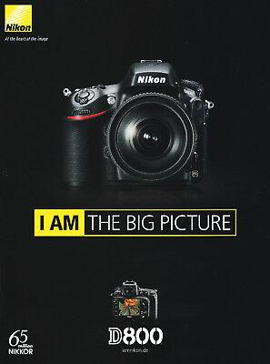 Prospekt NIKON D 800  Sehr Selten Kameraprospekt Katalog Spiegelreflexkamera NEU