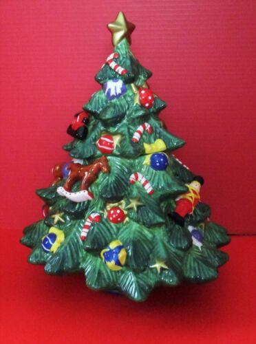 St. Nicholas Square Large Christmas Tree Cookie Jar Snowball Buddies NEW