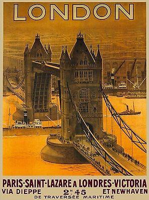 London England Great Britain Tower Paris Saint Travel Advertisement Art Poster