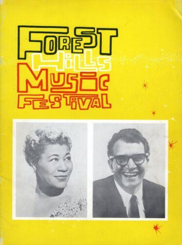 FOREST HILLS MUSIC FESTIVAL CONCERT PROGRAM-ELLA FITZGERALD-BRUBECK-BAEZ-CHARLES