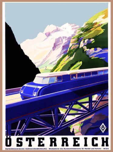 Austria Osterreich Vintage Europe European Travel Art Advertisement Poster