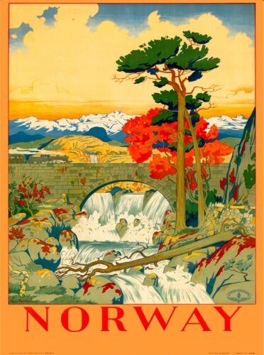 Norway Norwegian Scandinavia Vintage Travel Advertisement Art Poster  Print 5