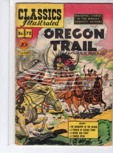 Classics Illustrated #72 HRN 73 (Original) VGFN Kiefer The Oregon Trail
