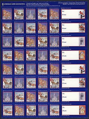 2000 USA Christmas Seals Snow Scenes (2000-2) Sheet of 48 backing paper - MNH (Christmas Snow Scenes)