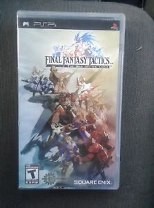 Psp game final Fantasy tactics the war of the lions complete