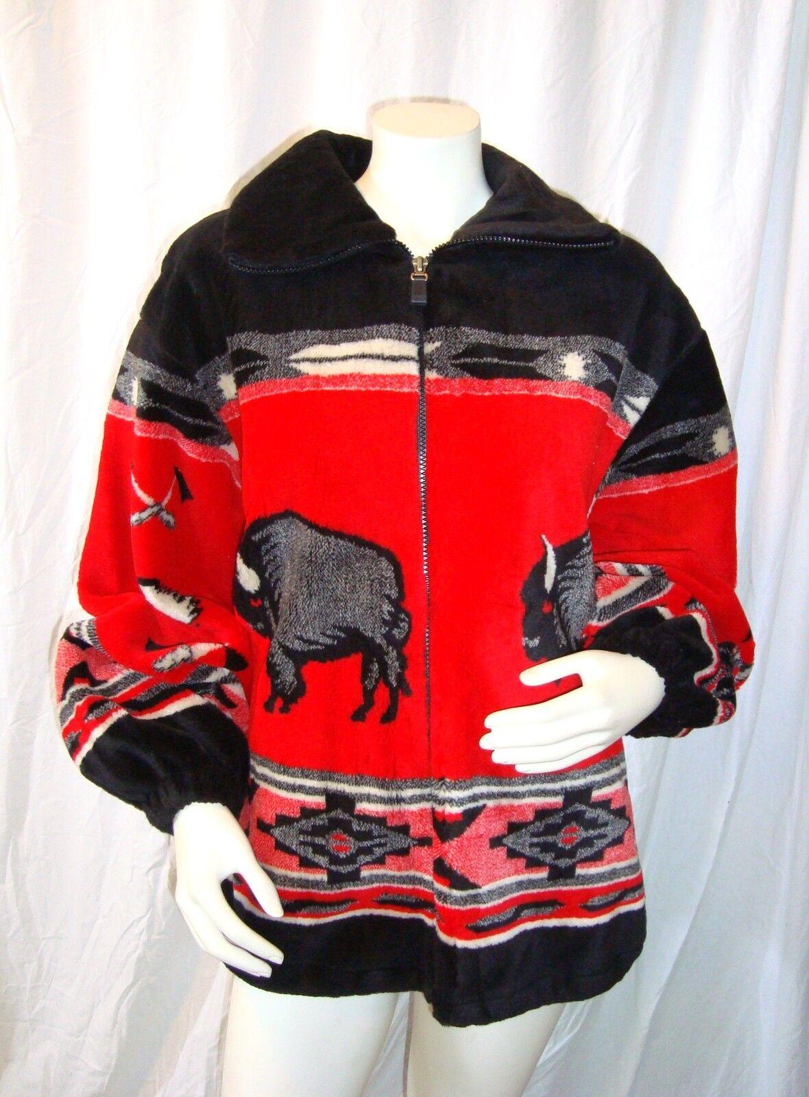 Buffalo Southwestern Ethnic Navajo Blanket Jacket Coat Sz S Lake Matley