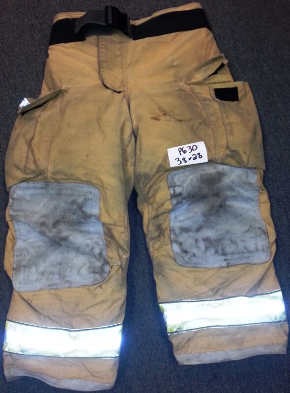 38x28 Pants Firefighter Turnout Bunker Fire Gear w/ Liner Globe Gxtreme P630