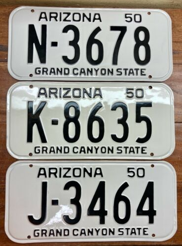 PICK ONE HARD 2 FIND BEAUTIFULLY RESTORED 1950 1951 ARIZONA LICENSE PLATE MVD OK