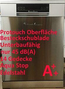 SCHAUBLORENZ A++ EDELSTAHL UNTERBAU GESCHIRRSPÜLER SPÜLMASCHINE 14 MAßGEDECKE