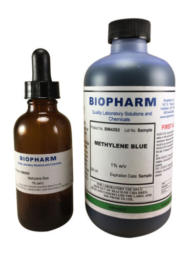 Methylene Blue 1% Aqueous Solution 8 oz (250 ml)