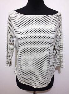 ARMANI-JEANS-Maglietta-Donna-Jersey-Pois-Pin-Up-Woman-T-Shirt-Sz-M-44