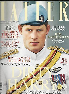 Tatler Magazine Prince Harry Kim Kardashian Monaco Grimaldi Royal Family Couture