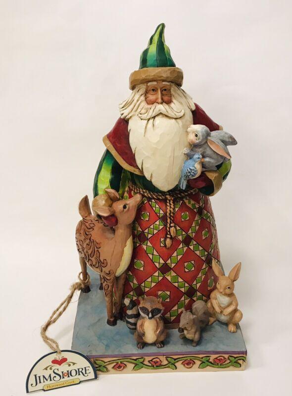 Jim Shore Heartwood Creek 2006 Woodland Christmas Santa & Animals Retired