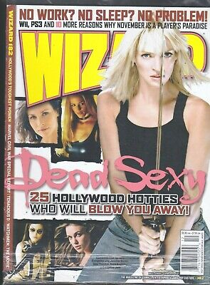 WIZARD MAGAZINE # 182 COMICS 25 HOLLYWOOD HOTTIES TOUGHEST FEMALES IN MOVIES TV
