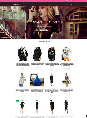 Womens Clothing Store Amazon Affiliate Dropshipping Website Free Hosting