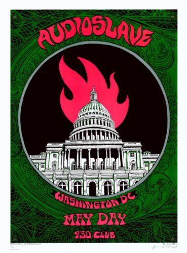 MINT/SIGNED Audioslave 2005 EMEK DC Silkscreen Silver VARIANT Poster 40/50